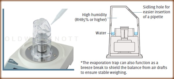 Evaporation trap included with the AD-4212A
