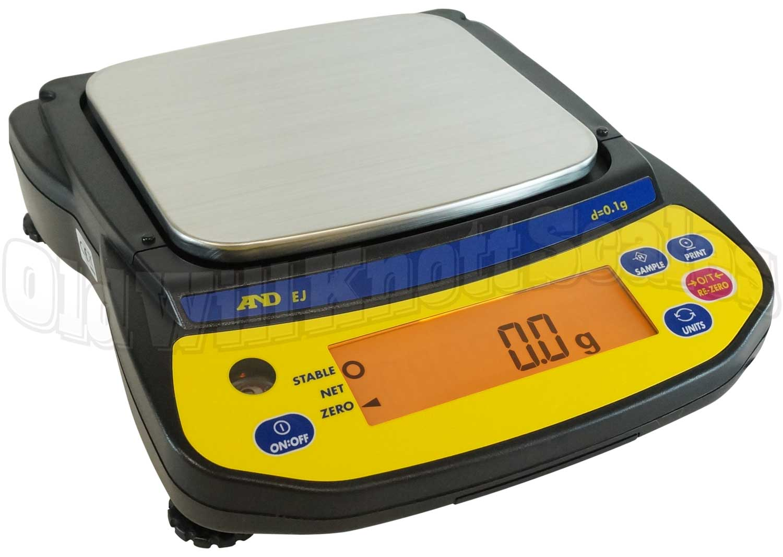 A Amp D Scales Ej 1500 Newton Series Portable Balance