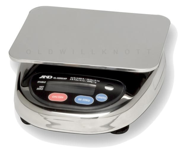 A Amp D Hl 3000lwp Compact Waterproof Digital Scale With 1