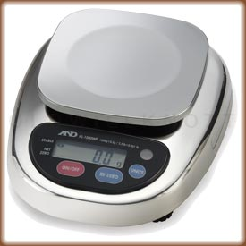 The A&D HL-WPN Series digital washdown scale with small platform