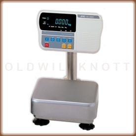 The HW-KG industrial scale with VFD display and column.