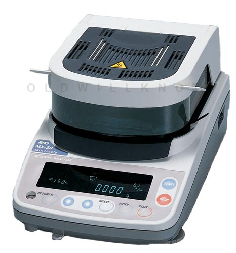 Scale Calibration Weights >> A&D Scales MX-50 Moisture Balance