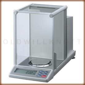 Front view of the Phoenix analytical balance.