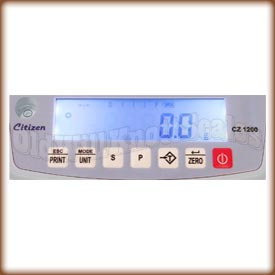 Detailed image of the CZ weight display.