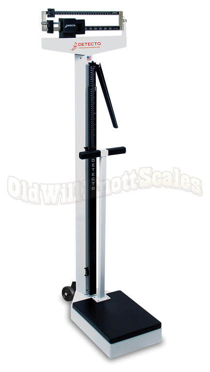 Detecto 448 Beam Scale With Height Rod Handpost Wheels