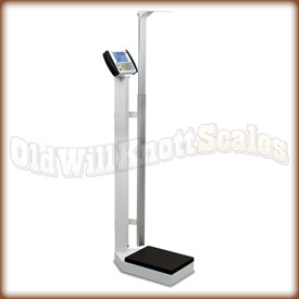 The Detecto 6437 eye-level physician scale with DHR digital height rod.