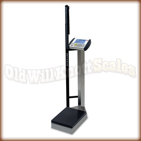 The Detecto 8430S stainless steel waist high physician scale.