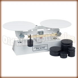 The Detecto 1001TBNS dough scale with counter weights.