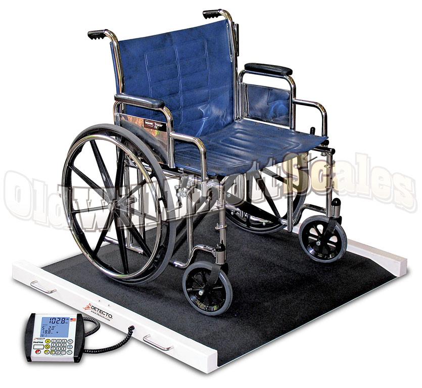 Wheel Chair Scale detecto brw1000 bariatric portable wheelchair scale
