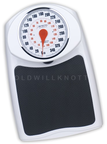 Durable, Professional Mechanical Bathroom Scale From Detecto Scales. 350  Pound Capacity X 1 Pound Resolution