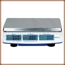 Rear view of the DS scales showing the customer displays.