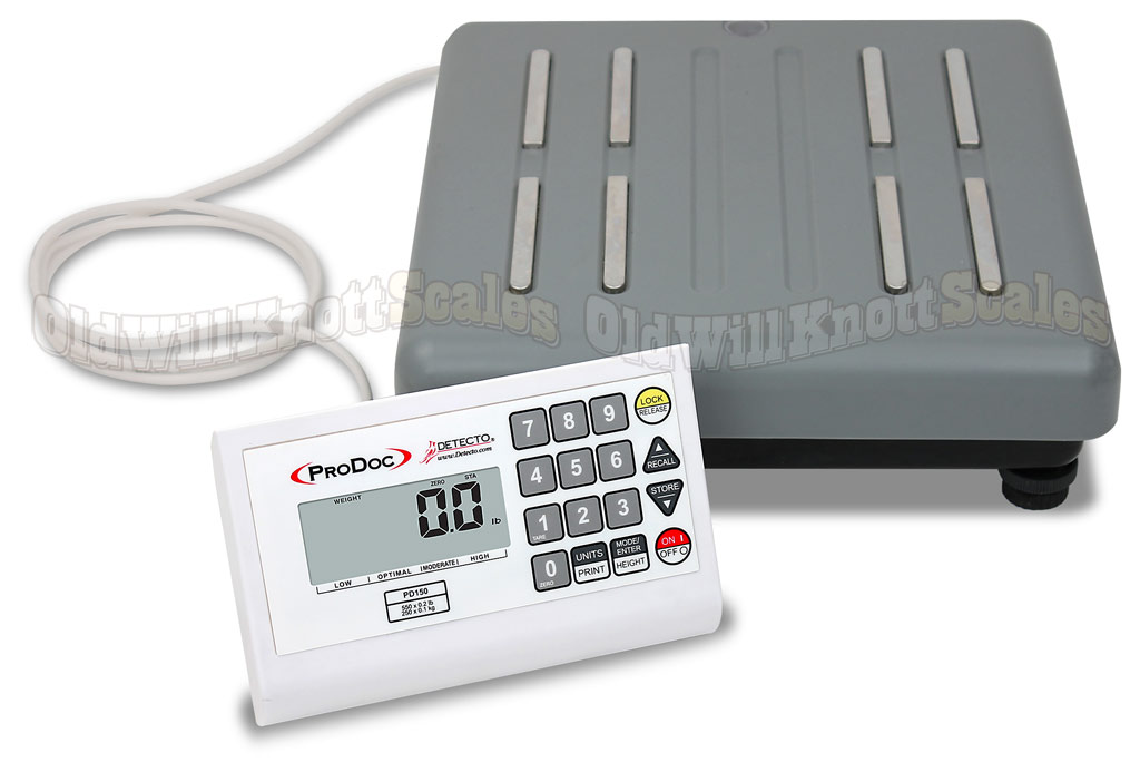Detecto Prodoc Pd150 Low Profile Body Fat Scale Amp Remote