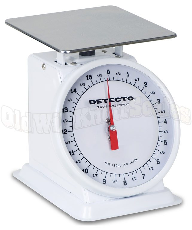 Detecto pt 1 top loading dial scale with fixed dial - How to calibrate a bathroom scale ...