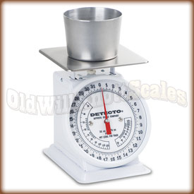 The Detecto PT-2C top loading dial scale with ice cream pint.