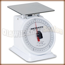 The Detecto PT-2R top loading dial scale.