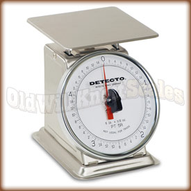 The Detecto PT-2SR top loading dial scale.