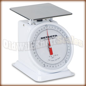 The Detecto PT-5 top loading dial scale.