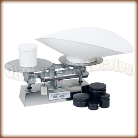 The Detecto 1052TBSKG dough scale with counter weights.
