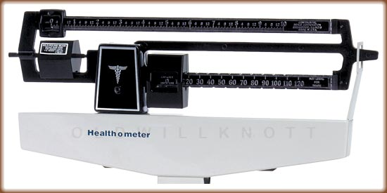 Closeup of the 1522's weight display