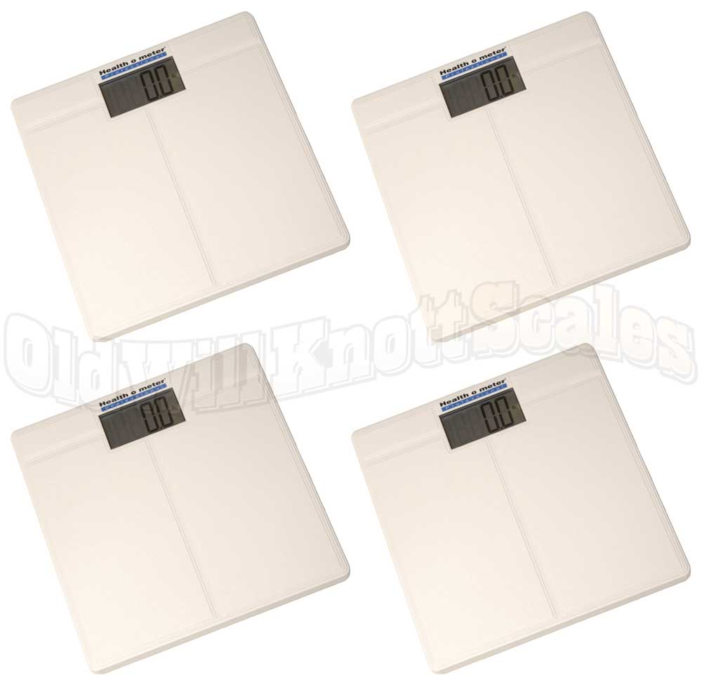 Health o meter 800kl 4 pack of digital bathroom scales - How to calibrate a bathroom scale ...