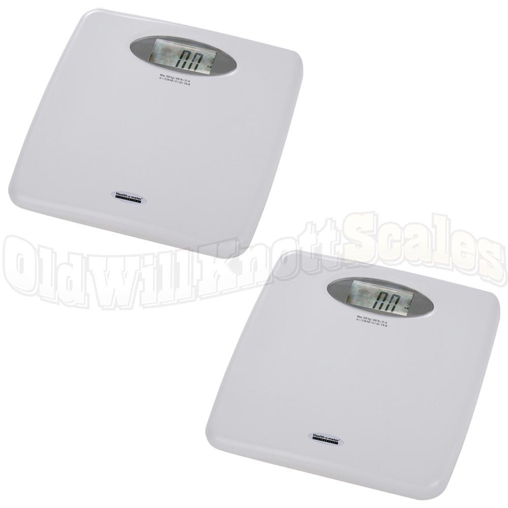 Health O Meter 844kl 2 Pack Of Digital Bathroom Scales