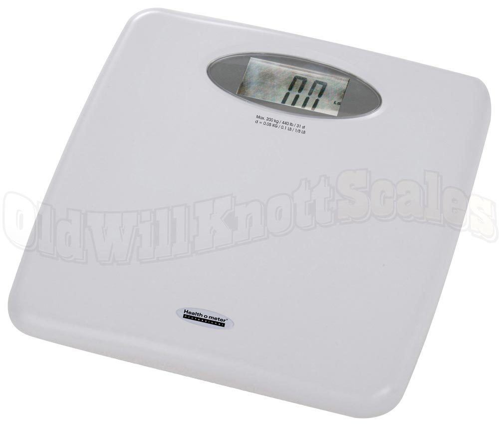 Durable Professional Electronic Bathroom Scale From Health O Meter 440 Pound Capacity 0 1 Resolution