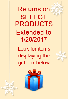 Go see all products that are eligible for extended returns