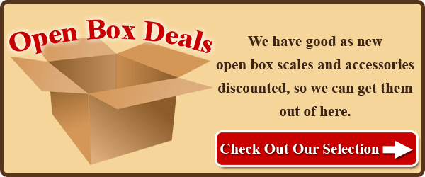We have good as new open box scales and accessories discounted, so we can get them out of here. Check out our selection.