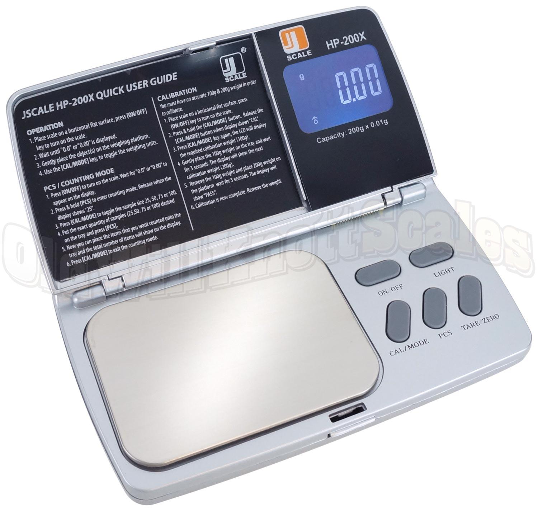 Jscale Hp 200x Digital Pocket Scale With 0 01 Gram Readability