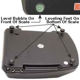 Detailed image of the i601 level indicator and adjustable feet.