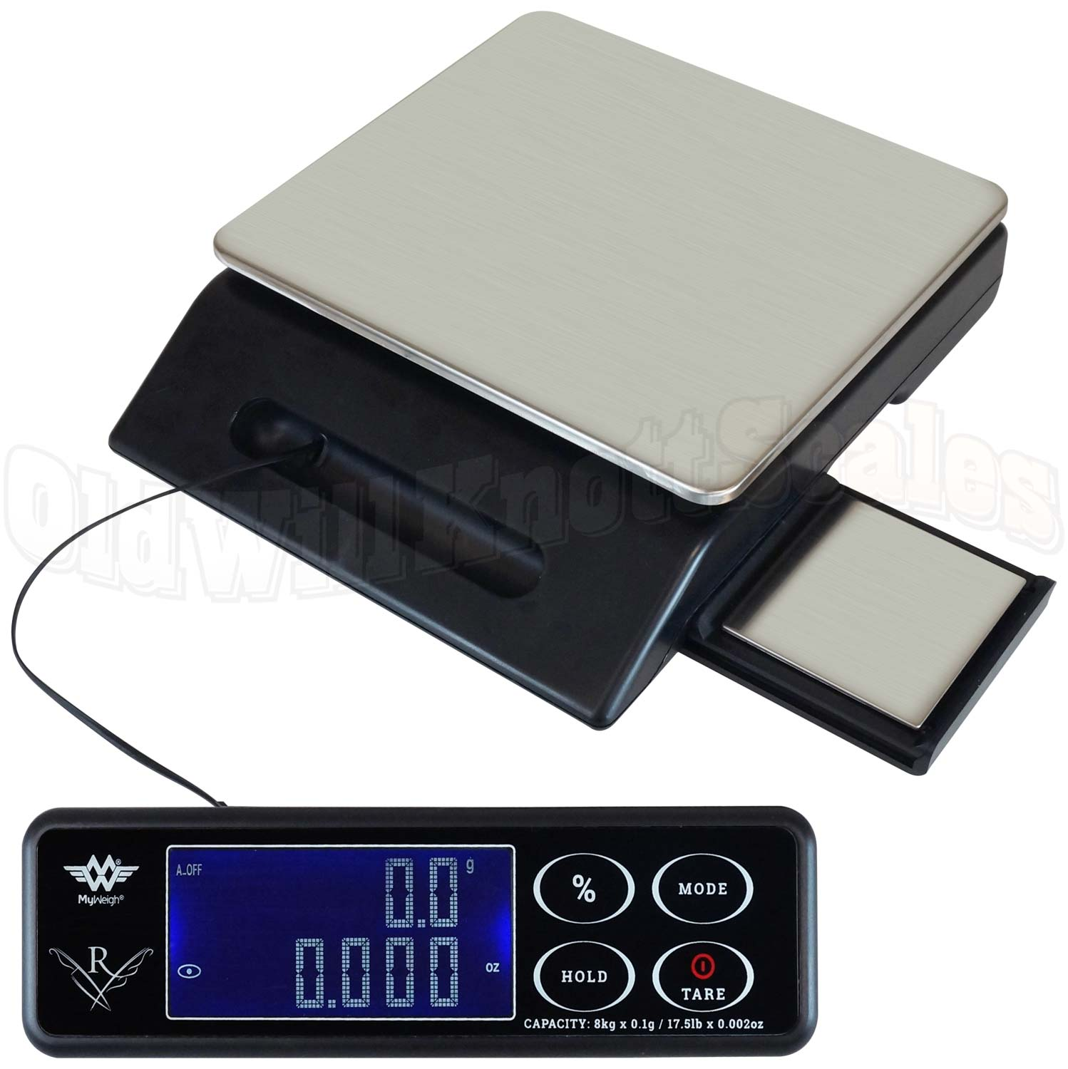 My Weigh Maestro Digital Kitchen Scale + Slide Out Precision Platform