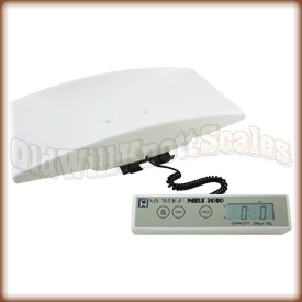 The My Weigh  MBS 2010 with included weighing cradle attached.