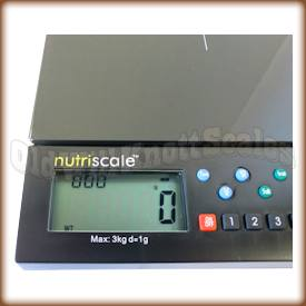 My Weigh - NutriScale - Close Up of Display Panel