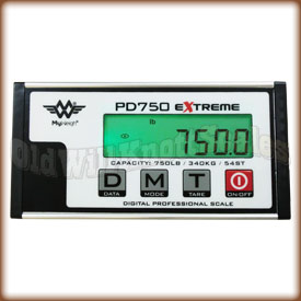 My Weigh - PD 750 - Close Up Of Display Panel