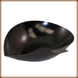 Black aluminum weighing scoop
