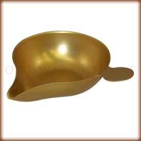 Gold weighing scoop