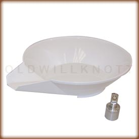 Polypropylene scoop and counterweight
