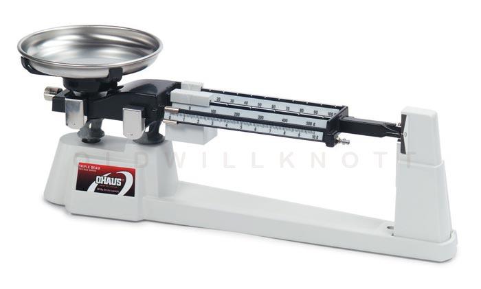Ohaus 710 00 triple beam balance 610 gram x 0 1 gram for Balanza cocina 0 1 g