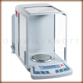 Front view of the Discovery analytical balance.