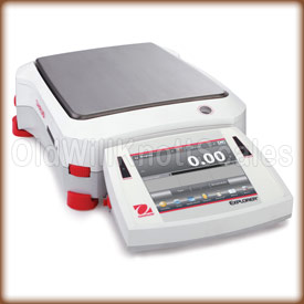 Front view of the Explorer precision balance.