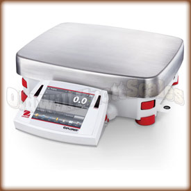 The Ohaus Explorer high capacity precision scale.