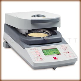 The Ohaus MB45 digital moisture analyzer