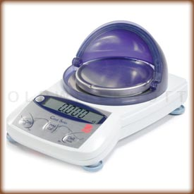 The Ohaus TAJ digital jewelry scale.