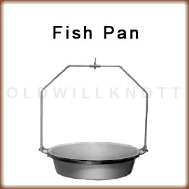 The optional fish pan attachment for the 1030 hanging dial scale.