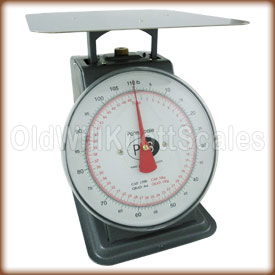 The Penn P-100 top loading spring scale with stationary dial.
