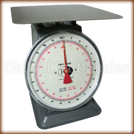 The Penn P-200 top loading spring scale with stationary dial.