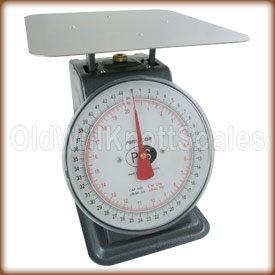 The Penn P-44 top loading spring scale with stationary dial.