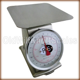 The Penn P-5 top loading spring scale with stationary dial.