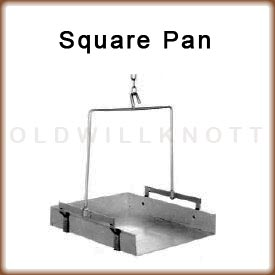 The optional square pan attachment for the 1060 hanging dial scale.