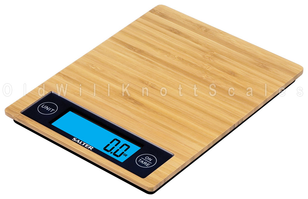 The Salter 1052 Bamboo Digital Kitchen Scale